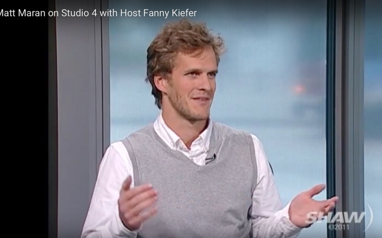 Matt Maran on Studio 4 with host Fanny Kiefer