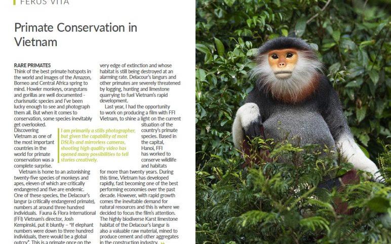 Primate Conservation in Vietnam featured in Wild Planet Photo Magazine